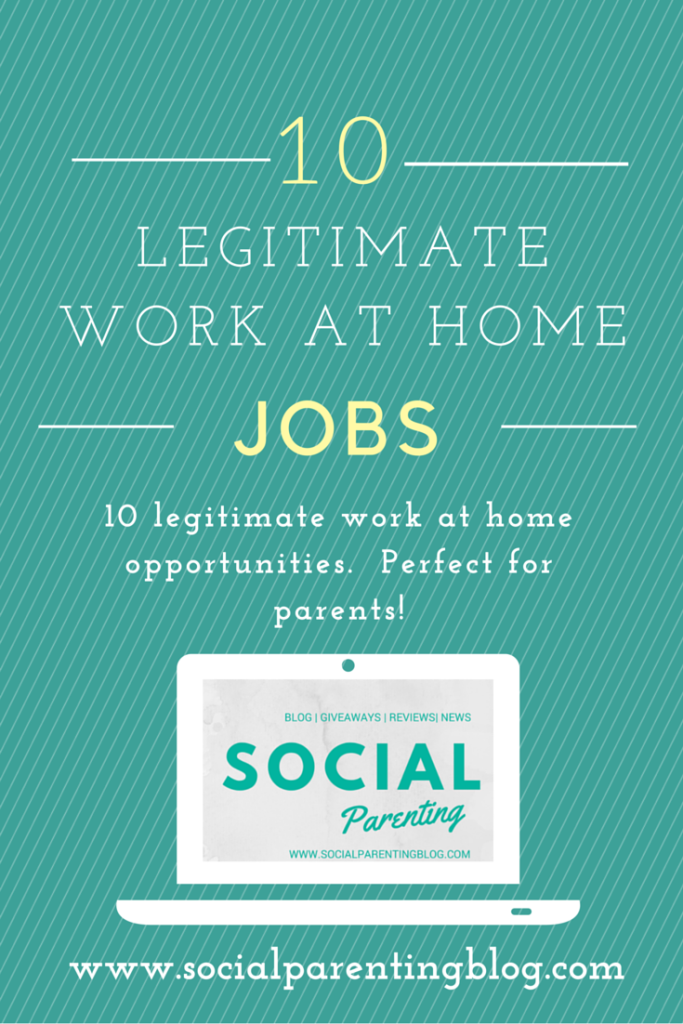 10 Legitimate Work At Home Jobs, perfect for moms and dads. #workathome #workfromhome #workathomejobs