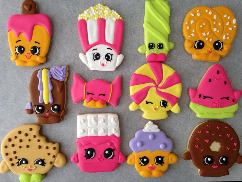 Custom Shopkins Cookies