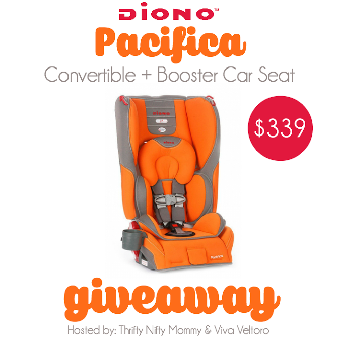 Diono Pacifica Car Seat Giveaway.