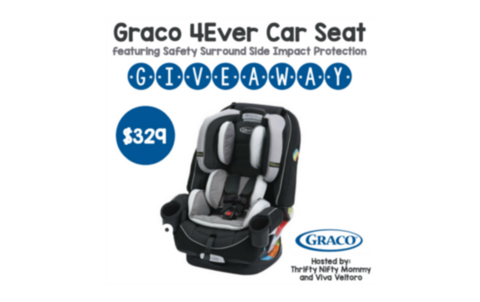 Car Seat Giveaway: Graco 4Ever Car Seat Giveaway