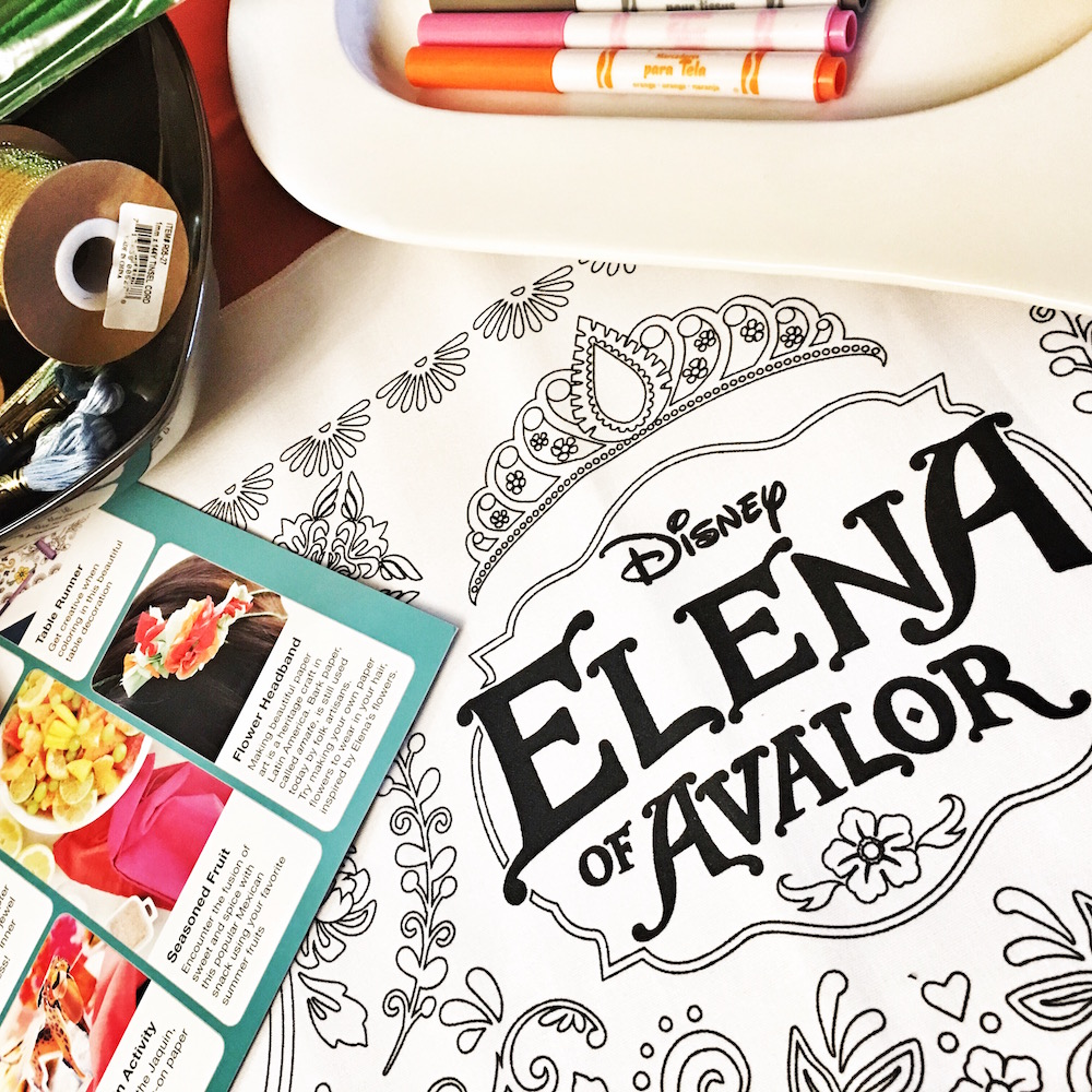 Elena of Avalor Crafts Table