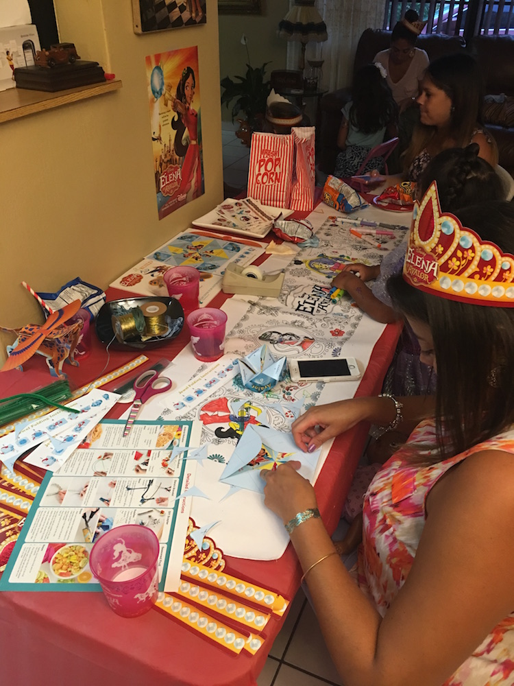 Even the moms LOVED the Elena of Avalor Crafts!