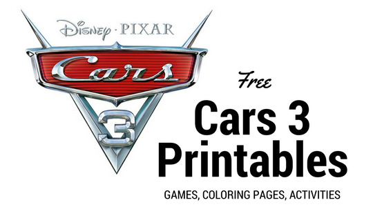 Cars 3 Color Pages and Printables