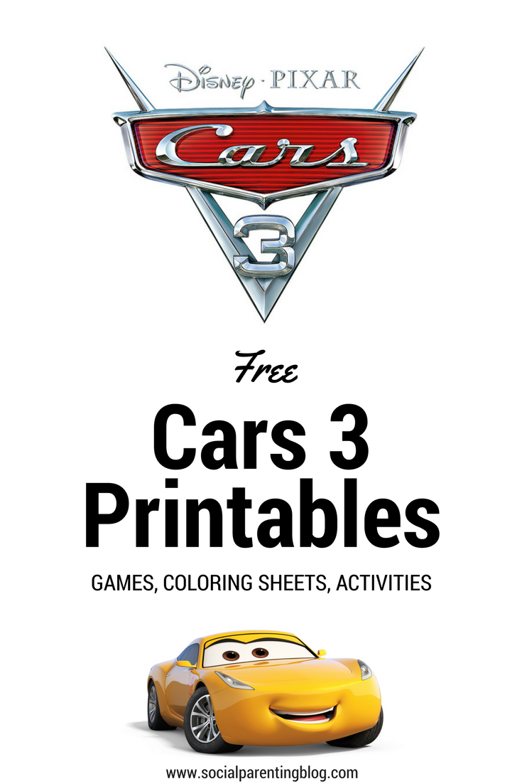 Cars 3 Coloring Sheets, Printables, and Games