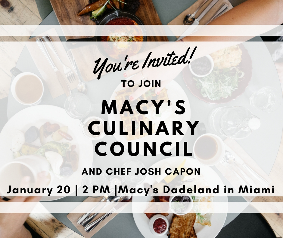 Macy's Culinary Council Event in Miami with Chef Josh Capon