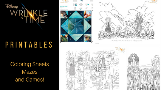 A Wrinkle in Time Printables - Coloring Sheets, Mazes, and Games!