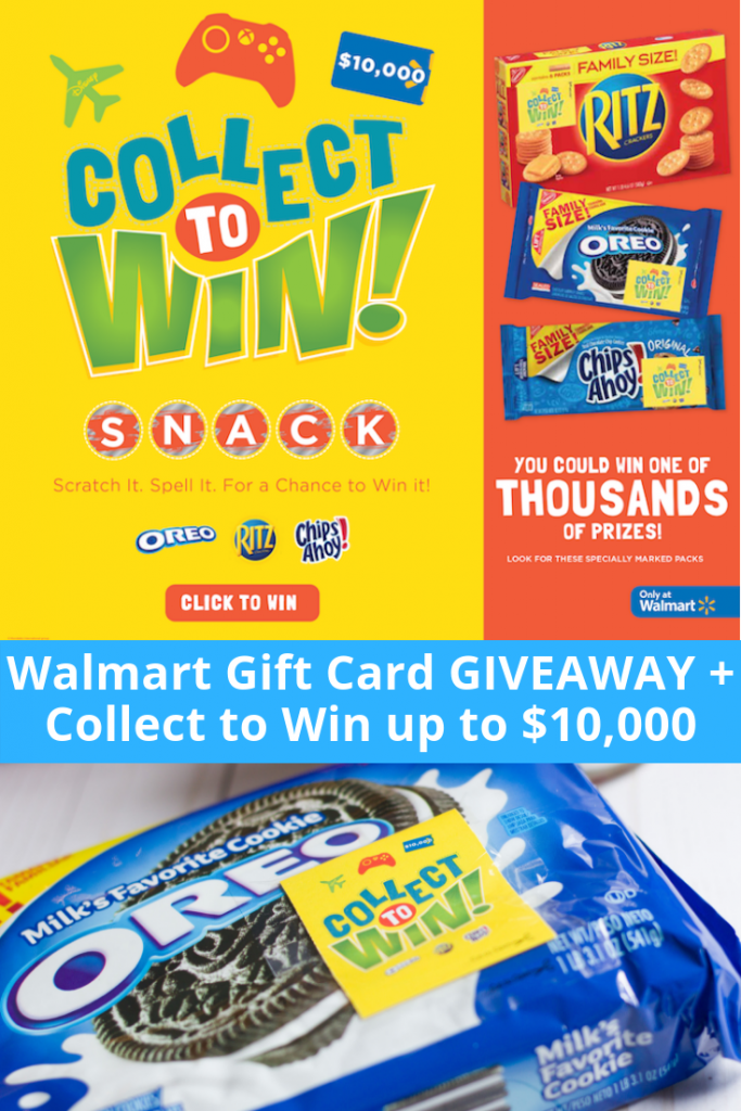 Walmart Gift Card Giveaway + Collect to Win up to $10,000!