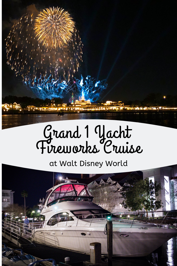 Pinterest image for Grand 1 Yacht Fireworks Cruise