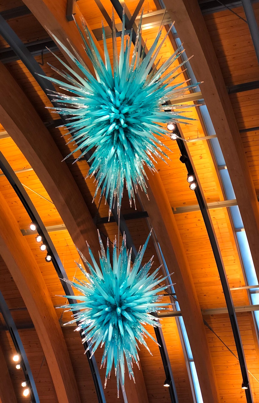 Chiluly piece at Crystal Bridges.