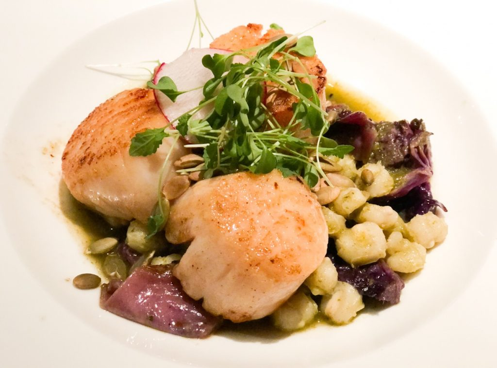 Pan Seared Scallops at The Hive.