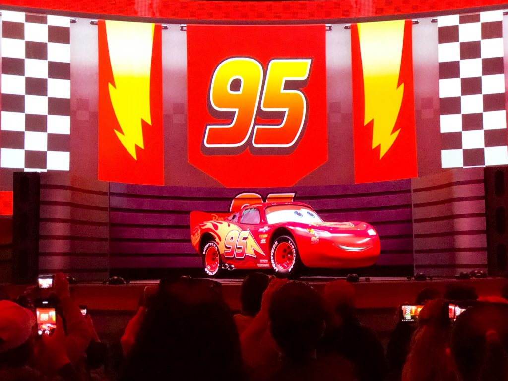 Lightning McQueen at Lightning McQueen's Racing Academy in Disney's Hollywood Studios