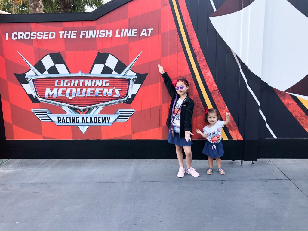 Will you cross the finish line at Lightning McQueen's Racing Academy?