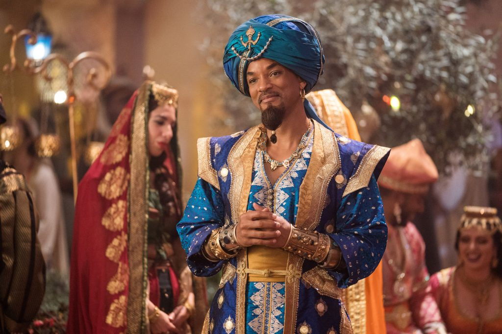 Will Smith is Genie in Disney's live-action ALADDIN, directed by Guy Ritchie.