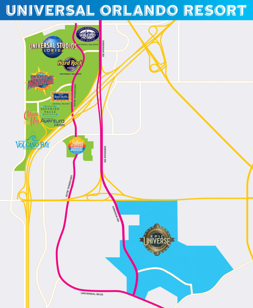 Universal Resort Orlando -- Epic Universe Map